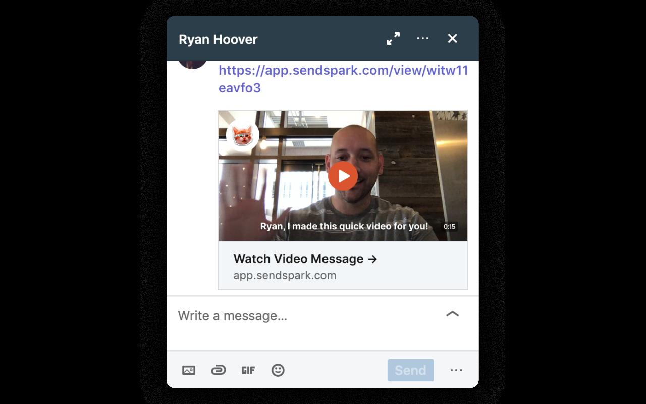 Video LinkedIn Message